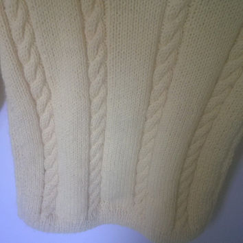 Yellow Cable Knit Sweater, Yellow Knit Sweater, Girls Knit Sweater, Girls Sweater 10-12