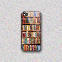 Bookshelf - Print on Hard Cover for iPhone 4/4s, iPhone 5/5s, iPhone 5c - Choose the option in right side