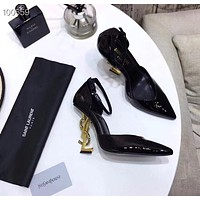 YSL  Women Casual Shoes Boots popularable casual leather Women Heels Sandal Shoes