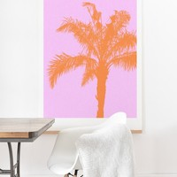 Deb Haugen Orange Palm Art Print And Hanger