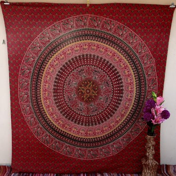 Elephant Tapestry Mandala wall hanging tapestries hippie tapestries indian tapestries