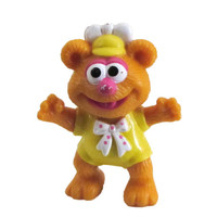 Fozzie Muppet Baby Sesame Street, PVC McDonald's Toy Action Figure Miniature Cake Topper, Jim Henson Circa 1986