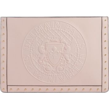 Balmain Mini Domaine Embossed Coin Calfskin Bag | Nordstrom