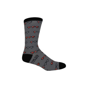 Gamer Life Crew Socks in Gray