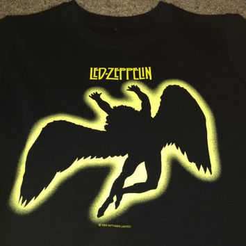 Sale!! Vintage LED ZEPPELIN 2003 casual black T shirt band music tee