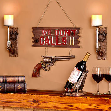 Home Decor Pistol Gun Firearm Humorous 3D Ceramic