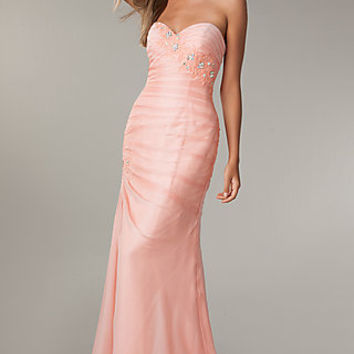 Strapless Corset Prom Gown by Flirt