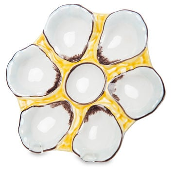 Canary-Yellow Oyster Plate, Dinner Plates
