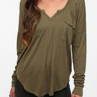 Urban Outfitters - LA Made Cargo Split Neck Tee