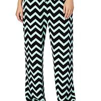 Mint Chevron Plush PJ Pant