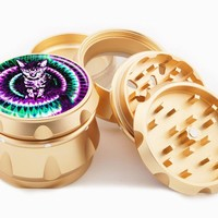 Trippy Kitty 4 Piece Gold Grinder