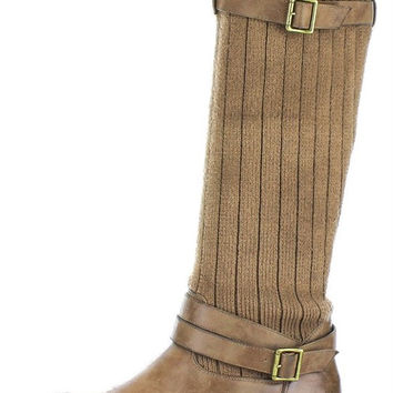 Brown Uma Knit Convertible Boot