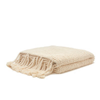 Organic Cotton Comfy Knit Throw (White)
