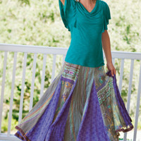 Purple Haze Skirt - Crinkled Skirt, Full Elastic Waist, Fully Lined Skirt | Soft Surroundings