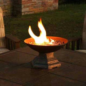 Umbrella Hole Fireplace - Designed To Fit On Top Of Patio Tables With Umbrella Holes