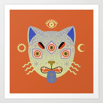 Mystic Cat Art Print by LordofMasks
