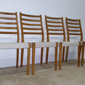 (4) MCM Svegards Danish Modern Dining Chairs