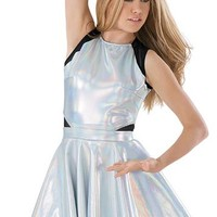 Hologram Mesh Inset Skater Skirt Dress | Balera™