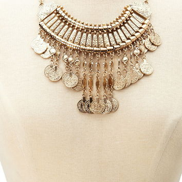 Coin Statement Necklace | Forever 21 - 1000205268