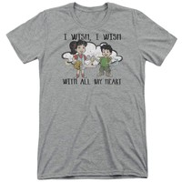 Dragon Tales I Wish With All My Heart Adult Soft Tri Blend T-Shirt