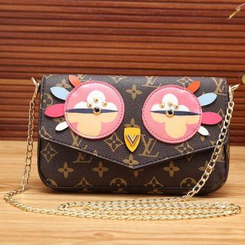 DCCKW2M LV Women Shopping Leather Satchel Shoulder Bag Crossbody Wallet Two piece Set