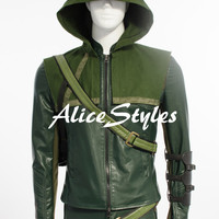 Green Arrow The second season Oliver Queen Cosplay Costume Cospaly Clothing Halloween Cosplay Costume
