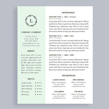 Professional Resume Template and Cover Letter for Word and Pages | One Page | Instant Download | Creative Resume | CV