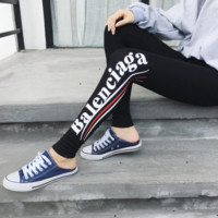 BALENCIAGA Sports Exercise Fitness Gym Running Training Leggings
