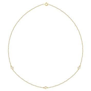 "14K Yellow 1-3 CTW Diamond Bezel 18"" Necklace"