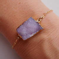 Druzy Bracelet in Pastel Purple