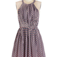 ModCloth Mid-length Sleeveless A-line Generation Geo Dress