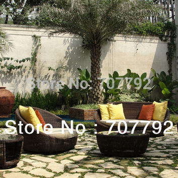 New Design outdoor round wicker french country furniture