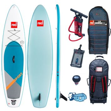 "Red Paddle Co SPORT MSL 11'3""x32""  2018 Inflatable Stand Up Paddle Board Bundle"
