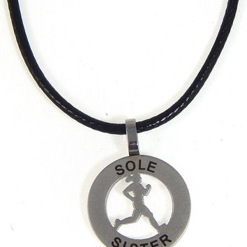 Runner Girl Mantra Charm Necklace - Sole Sister