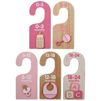 Hallmark Wood Hanger Dividers for Girl, Set of 5