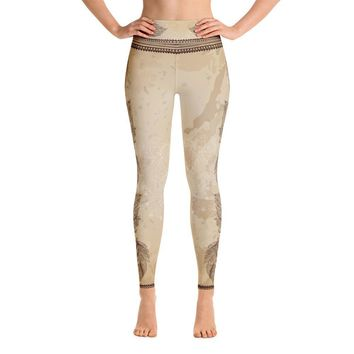 Vidya (Brown) High Waist Womens Yoga Leggings