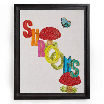 Shrooms Beaded Wall Art