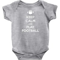 Keep Calm and Play Football Baby Onesuit