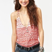 Button Up Tank - Red Tribal in  Clothes Tops Tanks at Nasty Gal