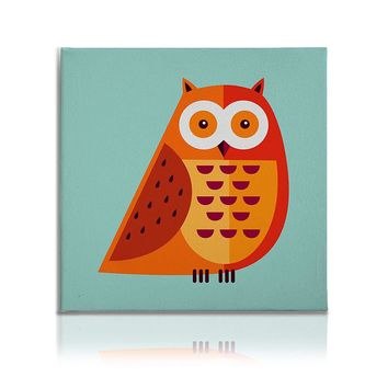 Cute Animals Pictures Canvas Wall Art Decal Painting Prints Owl