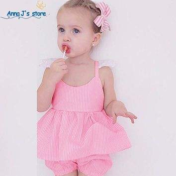 New Girl Clothes Set pink Tutu trousers Children newborn Clothing set