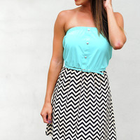 Just For Hope Dress: Spearmint/Chevron | Hope's