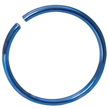 "20g Surgical Steel Titanium Anodized Blue 5/16"" Small Nose Ring Hoop - Nose Piercing Jewelry"