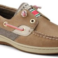 Sperry Top-Sider Shoes Women's Rainbowfish Slip-On Boat Shoe Linen Leather / Oat