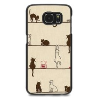 EZILLION Personalized Case For Samsung Galaxy S6 Cats