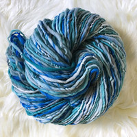 Handspun Merino, Gently Thick and Thin Worsted to Bulky, 4 oz
