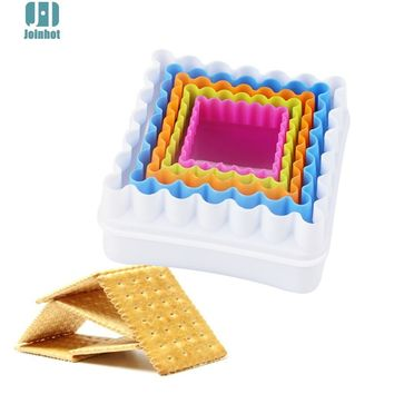 2015 New   5pcs/set Square shape 3D plastic cake mold bread/toast/sushi/rice mould cookie cutter