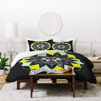 Wesley Bird Cosmic Flower Duvet Cover