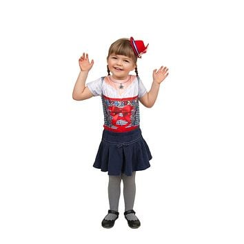 Mini Red Bavarian Felt Hats Oktoberfest Costume Idea