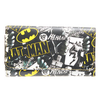 DC Comics Batman Satchel Snap Close Tri-Fold Long Wallet